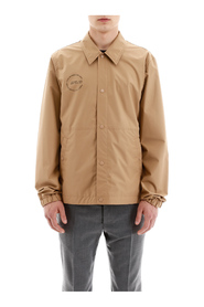 Shirt jacket with circle logo