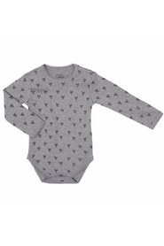 Petit by Sofie Schnoor - Body LS, Bow - Grey Melange