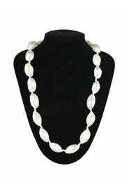 Vintage Shells Beads Pure One Strand Necklace