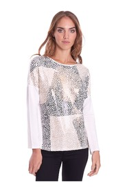 SWEATER WITH SEQUIN PRINT