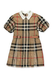 Check poplin dress