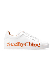 Lace-up shoes with logo