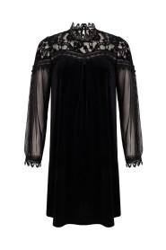 Dress velours lace