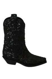 Sequin Ankle High Boots