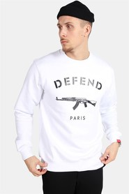 Defend Paris 75 Crew White