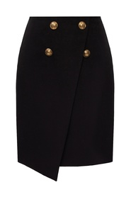 Skirt with distinctive buttons