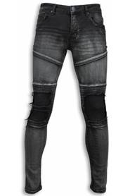 Exclusieve Biker Jeans - Slim Fit Biker Knees Jeans