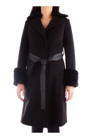 FRACOMINA FR19FP765 Overcoat Women BLACK