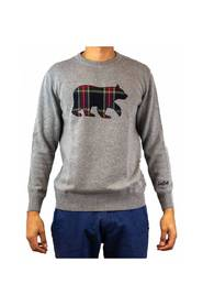 Round-neck sweater - bear patch