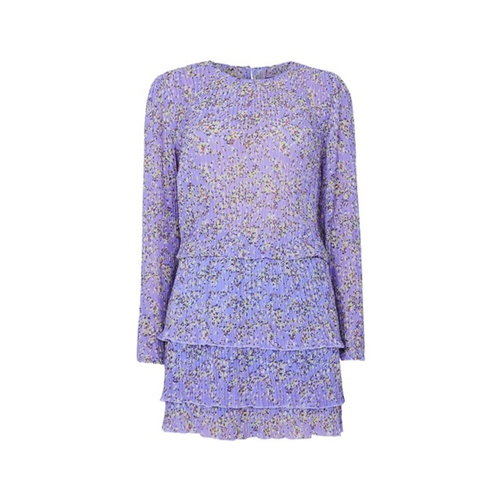 Lys lilla Line Of Oslo Mini Flower Dress kjole