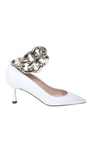 decollete' shoes with maxi chain