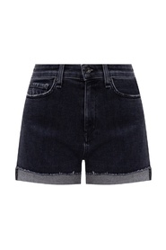 Denim shorts with logo