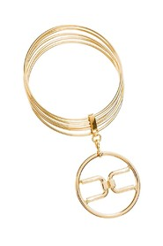 Bangle Elisabetta Franchi con logo light gold BC2MC11E2