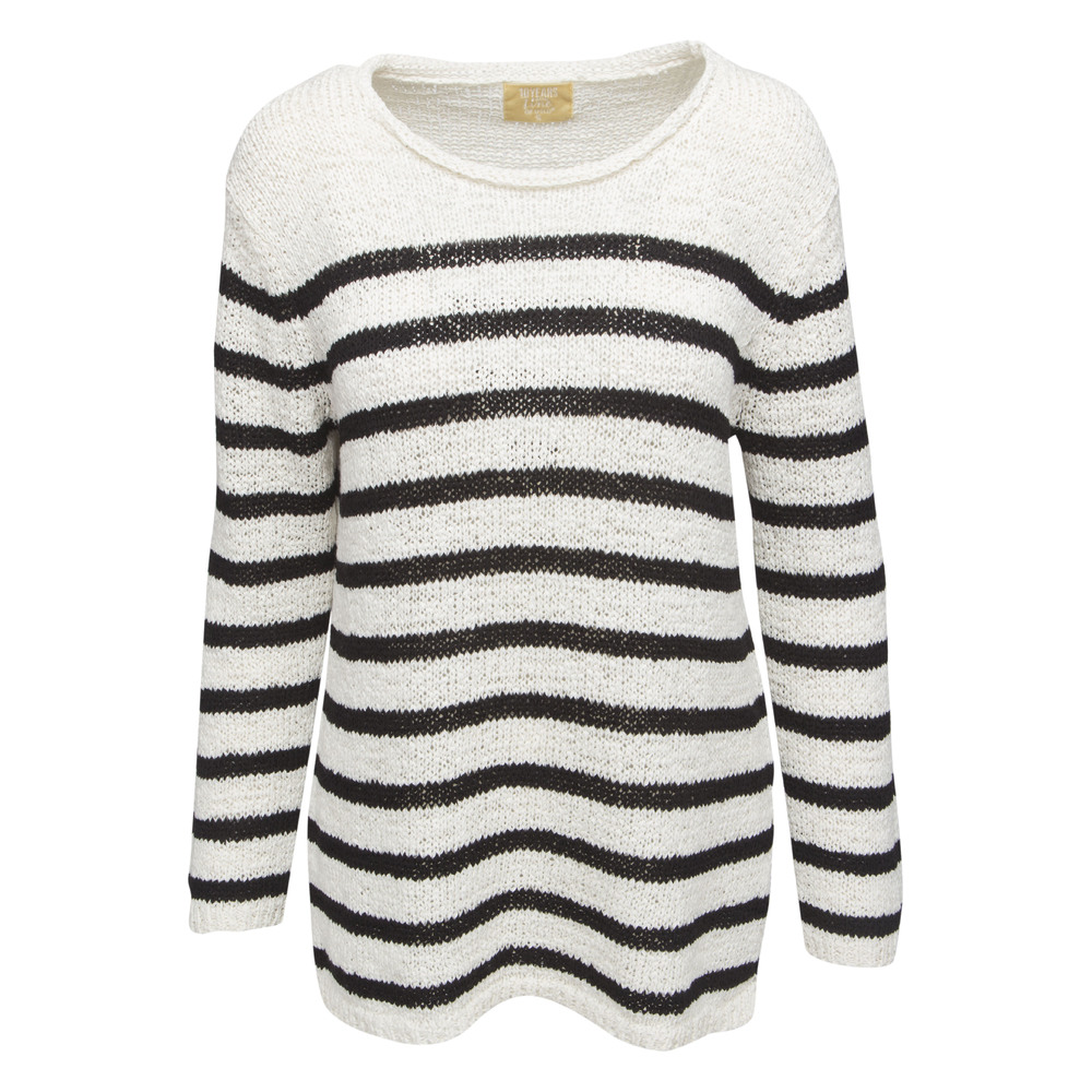 Line of Oslo Jumper Batman Stripe Svart/Vit