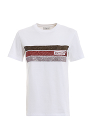 T-shirt with glittered bands