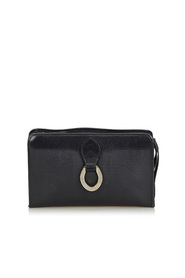 Oblique Coated Canvas Clutch Bag