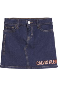 CALVIN KLEIN IG0IG00051 SKIRT LOGO SKIRT Girl DENIM DARK BLUE