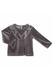 Petit by Sofie Schnoor - Baby Bluse, Velour - Grey