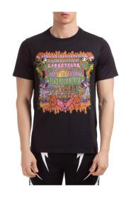 men's short sleeve t-shirt crew neckline jumper art collage