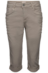 Chica London Stretchcapri med bling beige