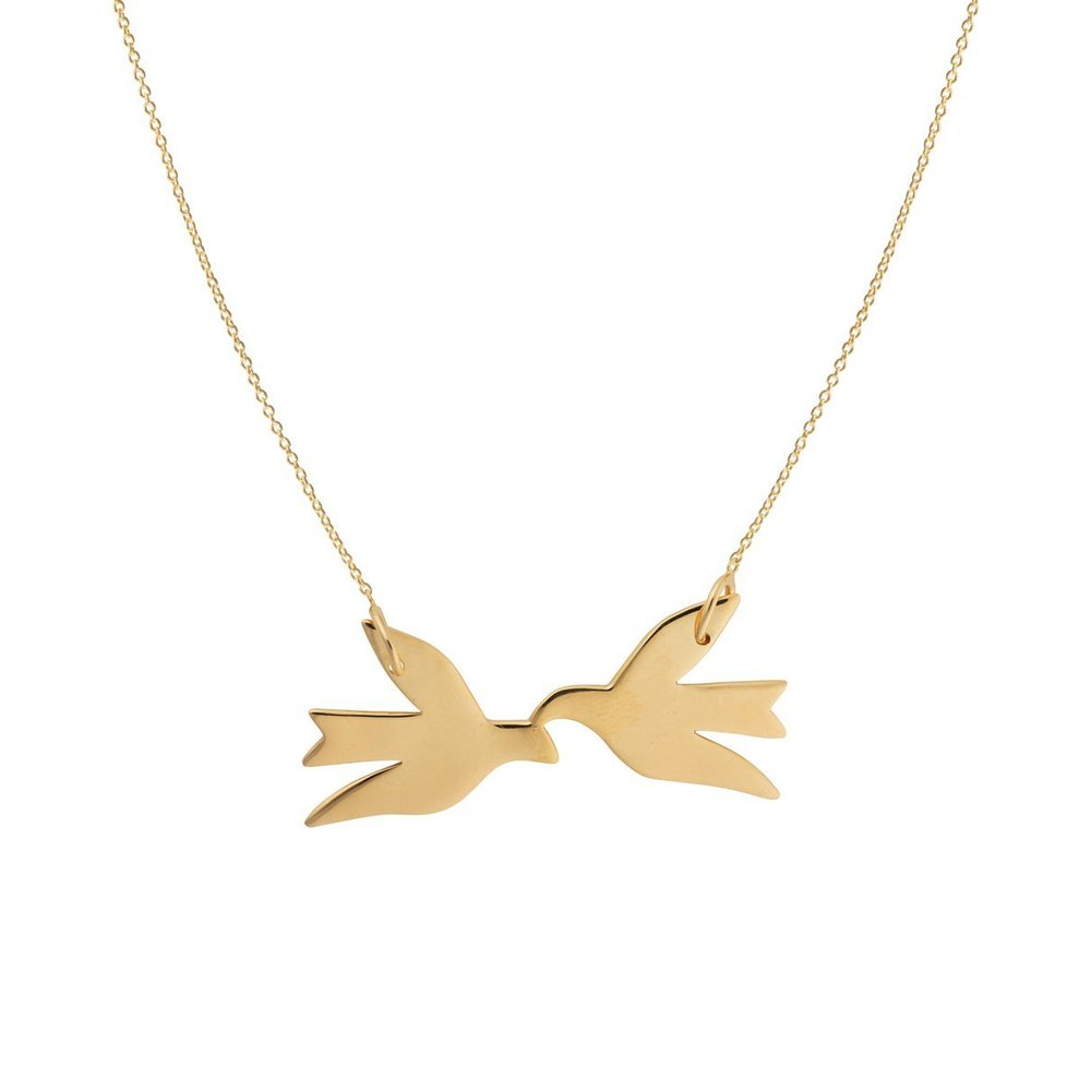 Birdy necklace gold - Syster P