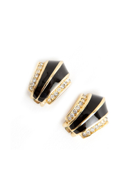 Art Deco shaped clip on earrings