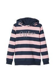 Sweatshirt Gestreiftes Glitzerprint