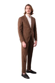 SINGLE-BREASTED SUIT WITH PINSTRIP LANCE BREAST