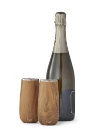 Teakwood Champagne Flute
