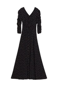 Autumn Ruching Maxi Dress