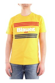 BLAUER 20SBLUH02178-004547  Short sleeve Men YELLOW