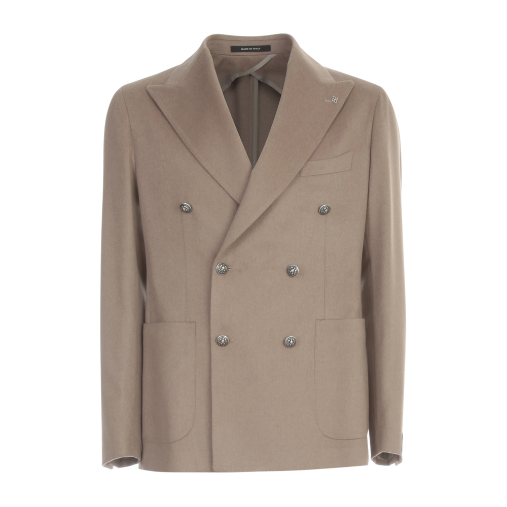 Wool Double Breasted Jacket Tagliatore