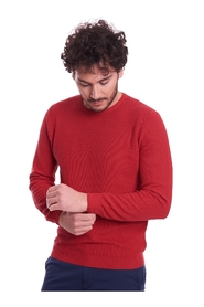 OPERATED SWEATER IN PURE COTTON