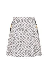 Mini skirt with micro-padlock print
