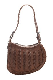Oyster Leather Hobo Bag