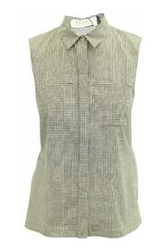 Checked Sleeveless Shirt -Pre Owned Condition Very Good IT40