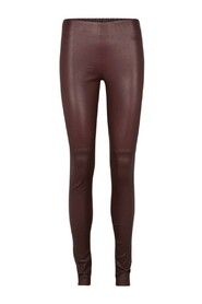 Chrissy Læder Leggins - Dusty Bourdeaux - Bruuns Bazaar