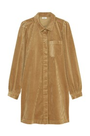 Corduroy Dress with puff sleeves