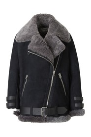 Shearling Suede Leather Jacket