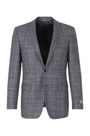 Straight checkered jacket