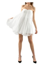 Dress in silk voile fabric