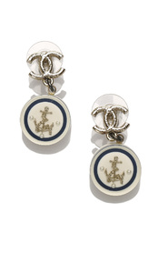 CC Anchor Drop Earrings