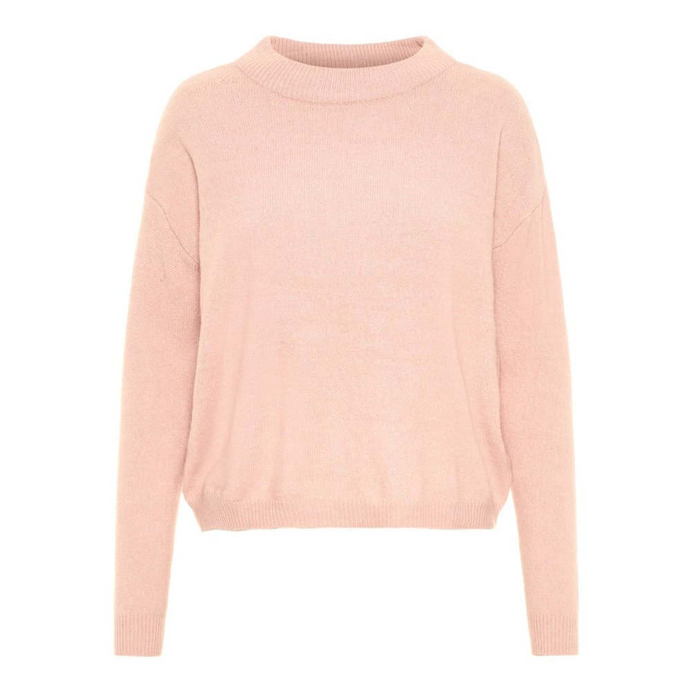 Knitted Pullover O-Neckline