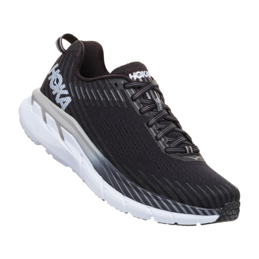 Hoka Clifton 5 Joggesko Dame Black/White