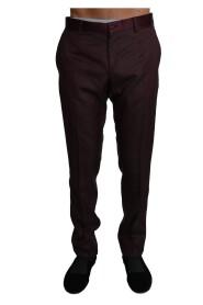 Wool Pattern Stripe Trousers Pants