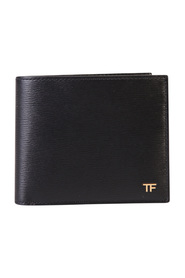 Logo detail leather wallet
