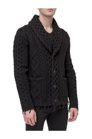 Knitted Cardigan with Fringes