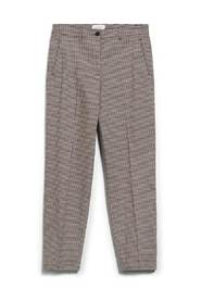 Brown checked tencel trousers - VARMAA MICROCHECK