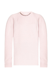 Cashmere sweater with chain