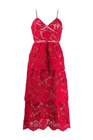 FLOWER LACE MDI DRESS